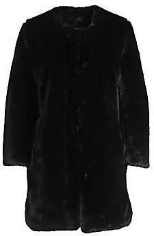 Saks Fifth Avenue Women's COLLECTION Faux Fur Plush Car Coat