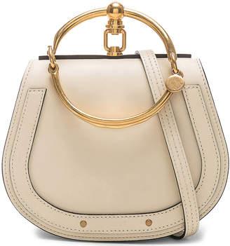 Chloé Small Nile Bracelet Bag Calfskin & Suede in Off White | FWRD
