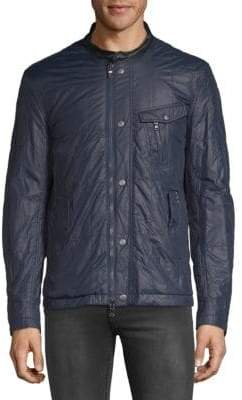 John Varvatos Quilted Racer Jacket