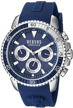 Versus By Versace Men's 'Aberdeen' Quartz Stainless Steel and Rubber Casual Watch