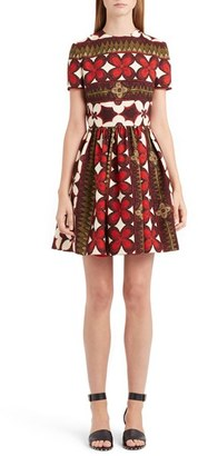 Women's Valentino Print Bambolina Crepe Couture Dress $3,690 thestylecure.com