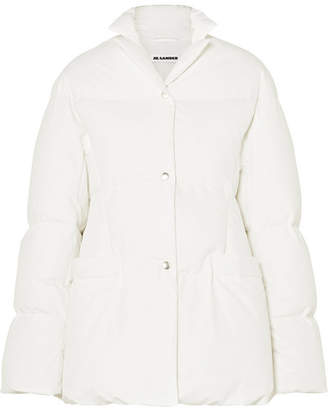 Jil Sander Quilted Shell Down Jacket - White