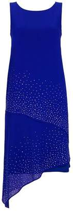 Wallis Blue Asymmetric Embellished Overlay Dress