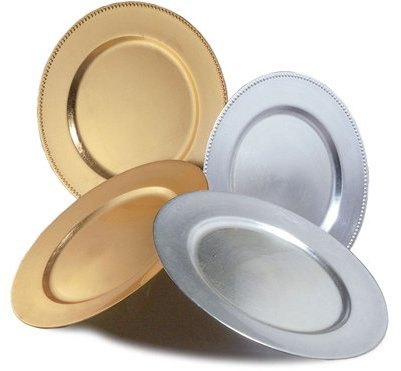 Ten Strawberry Street Round Gold Chargers