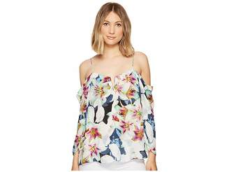 Nicole Miller Schuler Spring Floral Top Women's Clothing