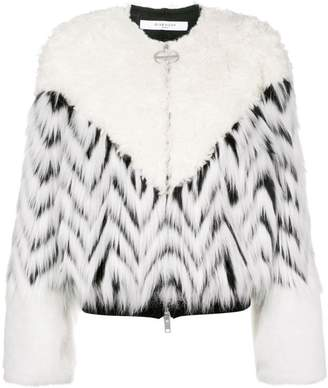 Givenchy faux fur patchwork bomber