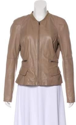 Reiss Long Sleeve Leather Jacket
