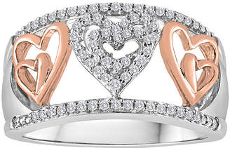 JCPenney FINE JEWELRY ForeverMine 1/5 CT. T.W. Diamond Two-Tone Heart Ring