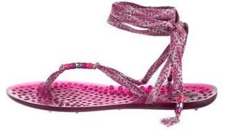 Jimmy Choo Wrap-Around Thong Sandals