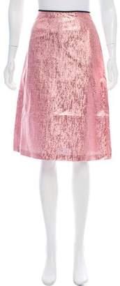 Tome Brocade A-Line Skirt
