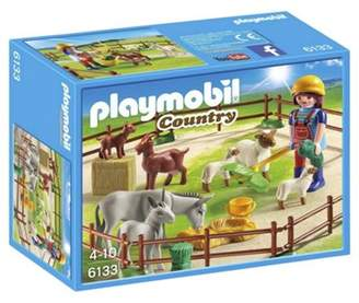 Playmobil 6133 Country Farm Animal Pen With 7 Animals