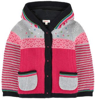 Catimini Baby Girl Jacket in Multicolored Jacquard