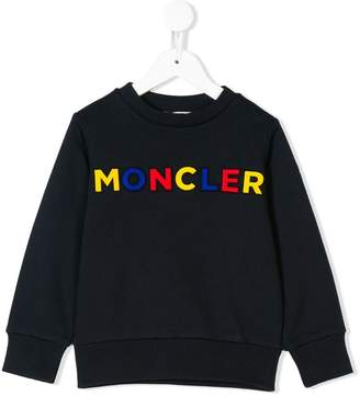 Moncler logo embroidered sweatshirt