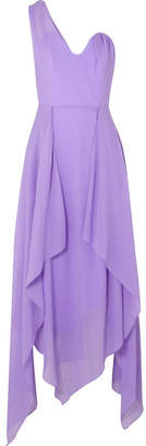 Roland Mouret Felcourt One-shoulder Silk-crepe Dress - Lilac