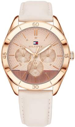 Tommy Hilfiger Rose Gold Watch With Leather Band
