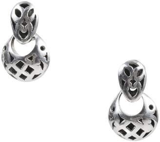 John Hardy Sterling Silver Diamond & Cresent Moon Cut Out Drop Earrings