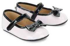 Girl's Contrast Bow Mary Jane Shoes $42 thestylecure.com
