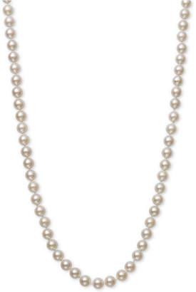 "Belle de Mer Cultured Akoya Pearl (6-6-1/2mm) 16"" Strand Necklace in 14k Gold"