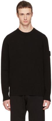 Stone Island Black Logo Sweater $240 thestylecure.com