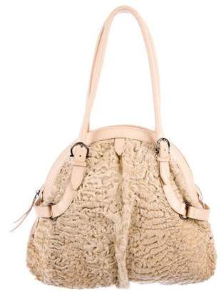Salvatore Ferragamo Persian Lamb Shoulder Bag