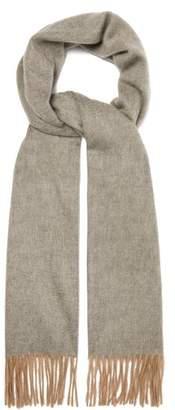 Begg & Co. - Arran Fringed Cashmere Scarf - Mens - Grey Silver