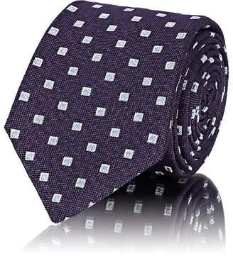 Barneys New York Men's Square-Dot Silk-Blend Necktie