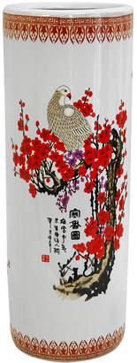 Asstd National Brand Oriental Furniture 24 Cherry Blossom Porcelain Umbrella Stand