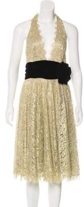 Marchesa Lace Halter Dress w/ Tags