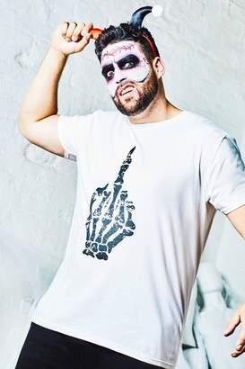boohoo Big & Tall Halloween Middle Finger T-Shirt