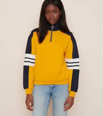 80b905aee1a Garage Mock Neck Zip Pullover Sweatshirt - FINAL SALE