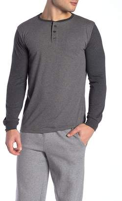 Unsimply Stitched Contrast Sleeve Baseball Henley