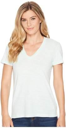 Mod-o-doc Slub Jersey Short Sleeve V-Neck Tee Women's Short Sleeve Pullover
