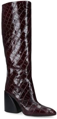 Chloé Leather High-Leg Boots