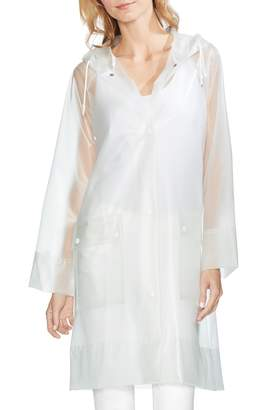 Vince Camuto Transparent Hooded Rain Jacket