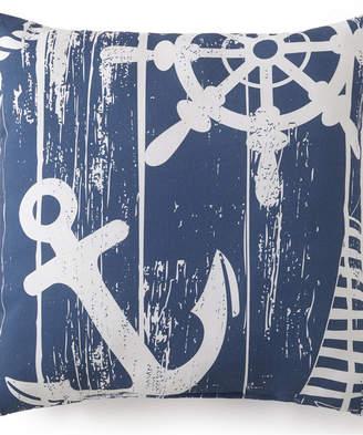"Colcha Linens Nautical Board Square Cushion 18""x18"" - Main Print Bedding"