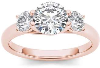 Imperial Diamond Imperial 1-5/8 Carat T.W. Diamond Three-Stone 14kt Rose Gold Engagement Ring