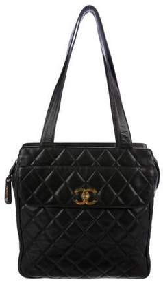 Chanel Quilted CC Shopper
