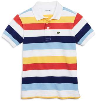 Lacoste Boys' Mixed Stripe Polo