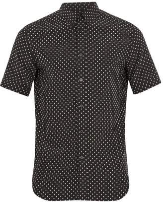 Alexander McQueen Skull-print silk shirt