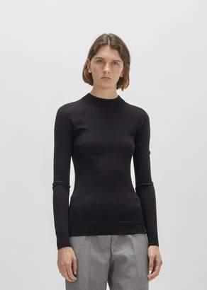 Lemaire Merino & Silk High-Neck Sweater Black