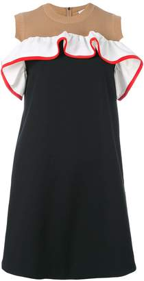 MSGM knitted panel shift dress