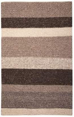 Pottery Barn Teen Auburn Stripe Rug, 8'x10', Brown Multi