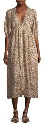 Zimmermann Melody Leopard Midi Dress