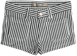 Zadig & Voltaire Striped Stretch Cotton Denim Shorts