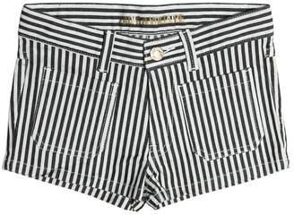 Zadig & Voltaire Zadig&voltaire Striped Stretch Cotton Denim Shorts