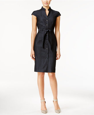 Calvin Klein Denim Belted Shirtdress $89.98 thestylecure.com
