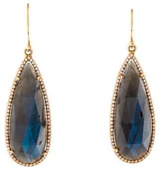 Irene Neuwirth 18K Labradorite & Diamond Drop Earrings rose 18K Labradorite & Diamond Drop Earrings