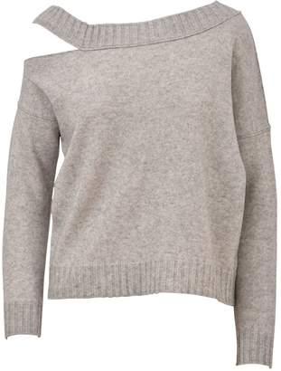 Vince Grey Split Neck Sweater