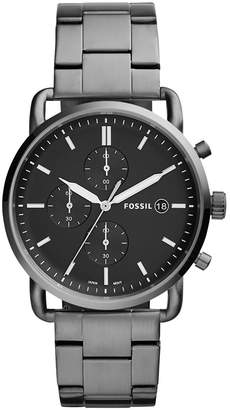 Fossil Men's 'The Commuter' Quartz Stainless Steel Casual Watch, Color Grey (Model: FS5400)