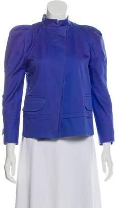 Versace Stand Collar Asymmetrical Jacket